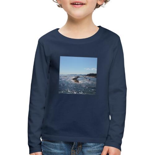 Mer avec roches - T-shirt manches longues Premium Enfant