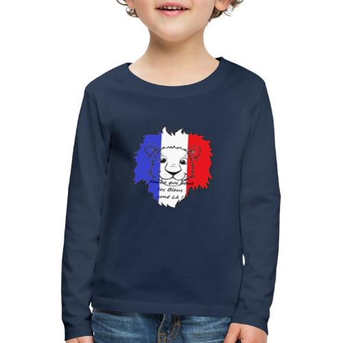 Lion supporter France - T-shirt manches longues Premium Enfant