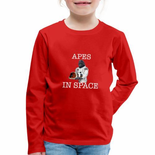 Apes in Space - Kids' Premium Longsleeve Shirt
