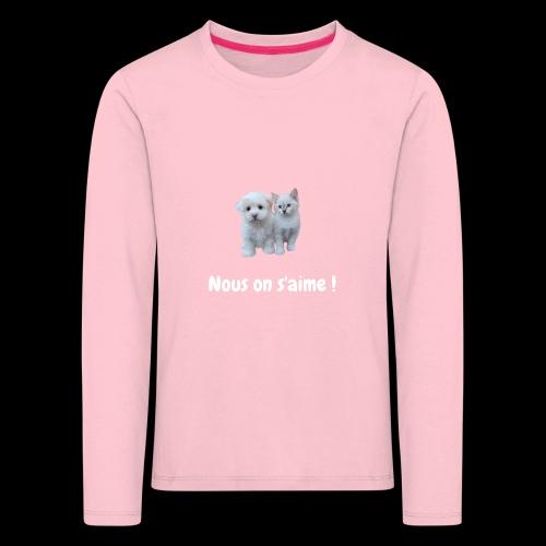 chien et chat - T-shirt manches longues Premium Enfant