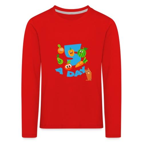Duna five a day - Premium langermet T-skjorte for barn