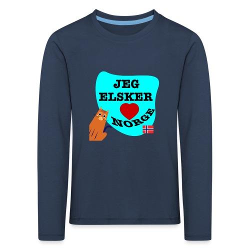 Jeg elsker Norge - Premium langermet T-skjorte for barn