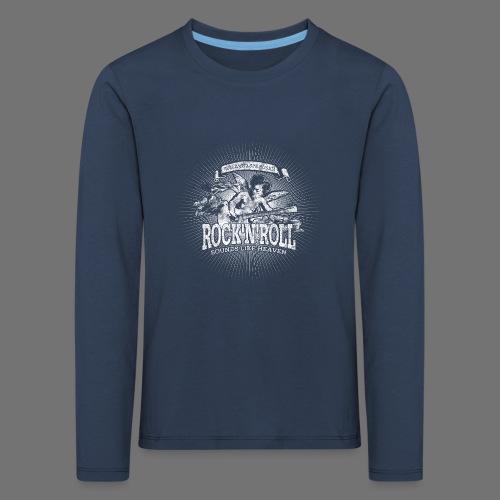 Rock 'n' Roll - Sounds Like Heaven (biały) - Koszulka dziecięca Premium z długim rękawem