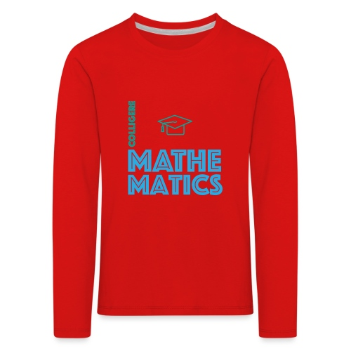 Colligere Math - Premium langermet T-skjorte for barn
