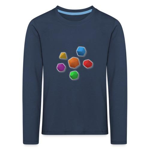 PolyDicePin - Kids' Premium Longsleeve Shirt