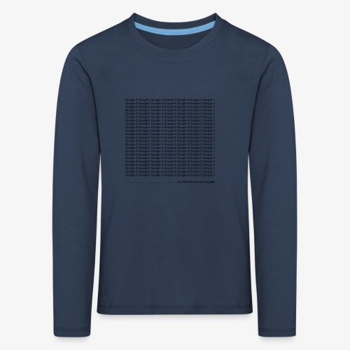 google - Koszulka dziecięca Premium z długim rękawem