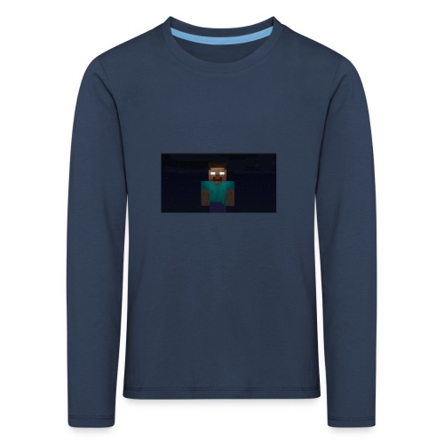 Herobrine (Bild) - Kinder Premium Langarmshirt