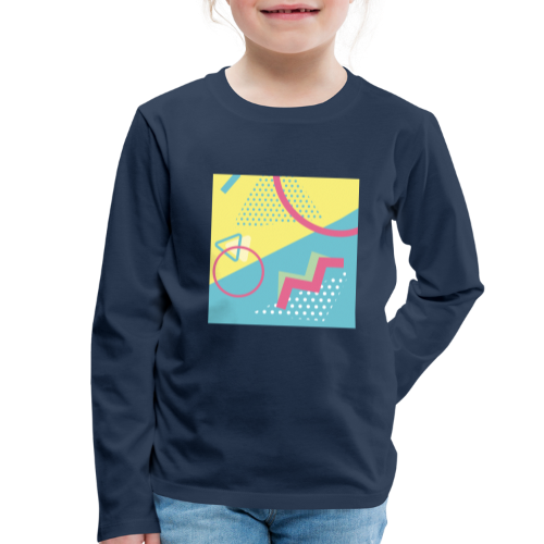 Pastel turquoise geometry - Kids' Premium Longsleeve Shirt