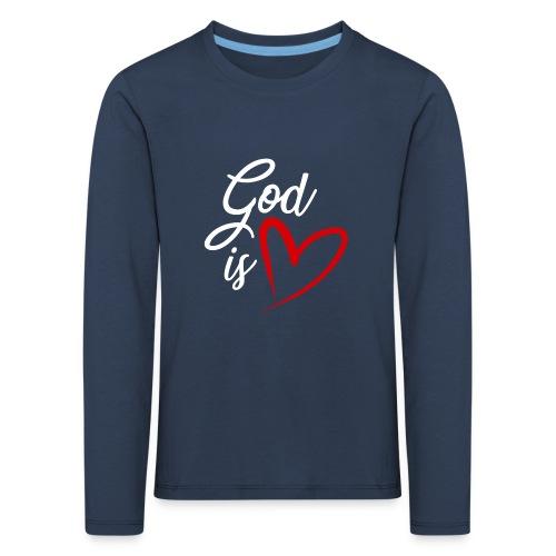 God is love 2B - Maglietta Premium a manica lunga per bambini