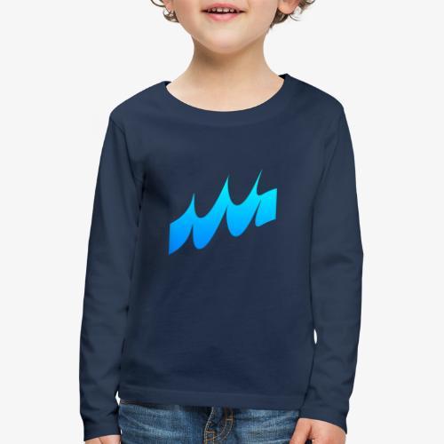 Ocean Waves or just Deep - Kids' Premium Longsleeve Shirt