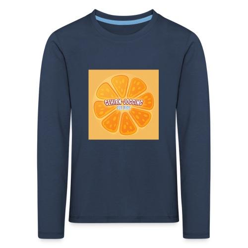 orangetextur - Kinder Premium Langarmshirt