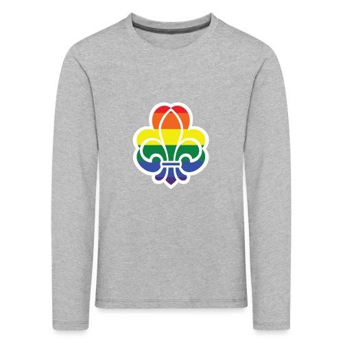 Regnbuespejder jakker og t-shirts mv - Børne premium T-shirt med lange ærmer