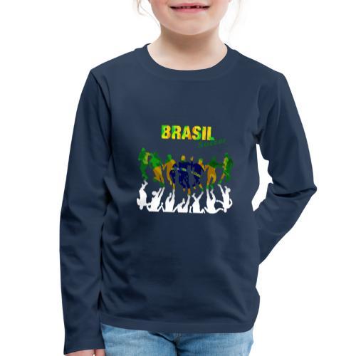 Brasil Soccer - Kids' Premium Longsleeve Shirt