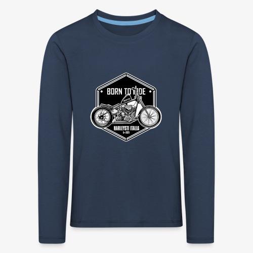 Born to Ride - Vintage motorbike - Maglietta Premium a manica lunga per bambini