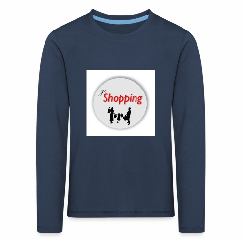 logo go shopping - Camiseta de manga larga premium niño