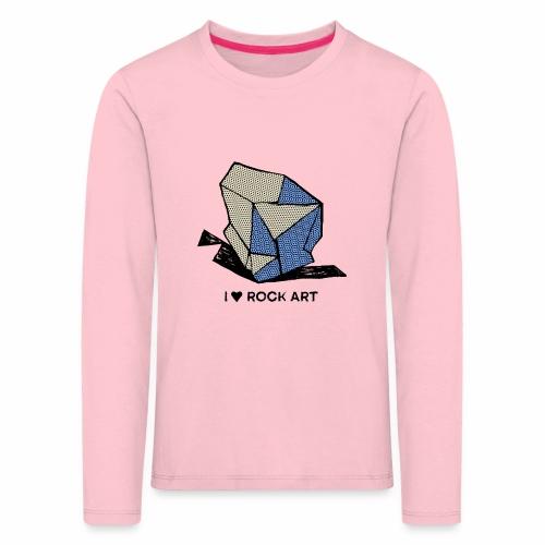 I LOVE ROCK ART No 1 colour - Kinderen Premium shirt met lange mouwen