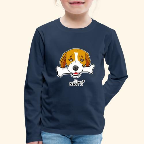 Nice Dogs Semolino - Maglietta Premium a manica lunga per bambini