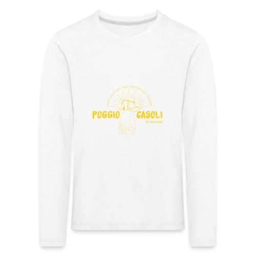 Poggio Casoli_Istituzionale_Giallo - Maglietta Premium a manica lunga per bambini