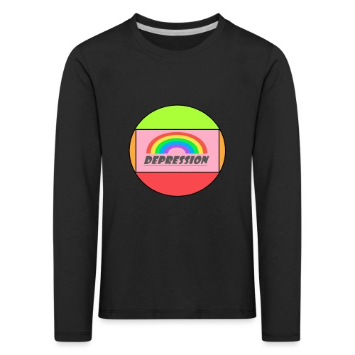 Depressed design - Kids' Premium Longsleeve Shirt