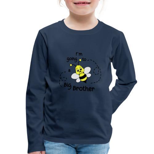 Grote broer, bij, bekend making zwanger - Kinderen Premium shirt met lange mouwen