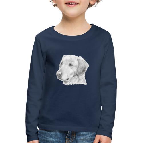 Golden retriever 2 - Børne premium T-shirt med lange ærmer