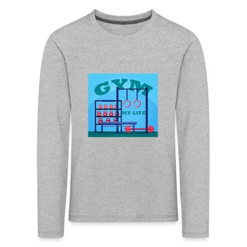 GYM - Lasten premium pitkähihainen t-paita