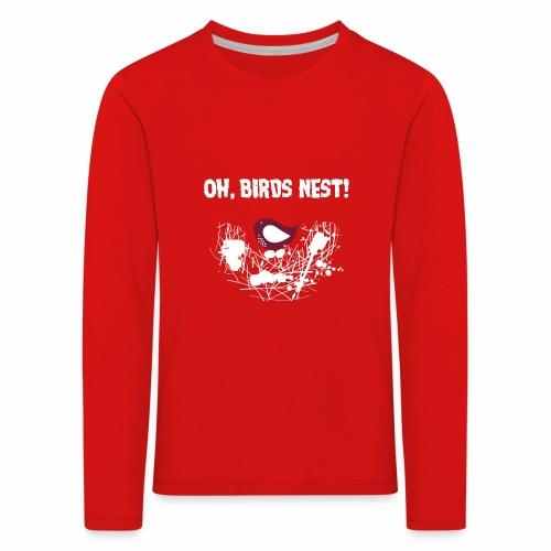 Oh BirdsNest With Red Bird - Kids' Premium Longsleeve Shirt