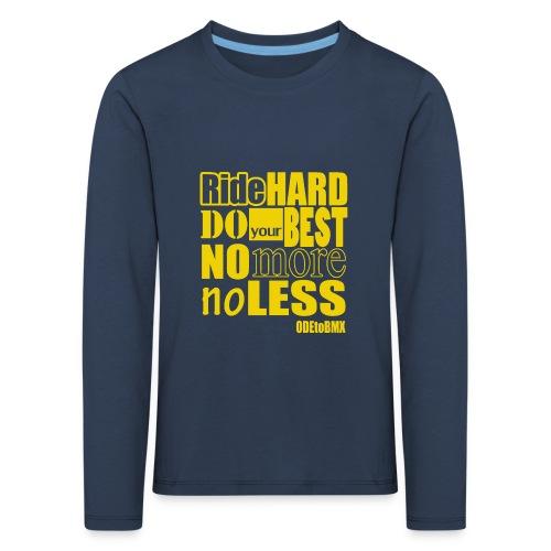 ridehard yellow - Kids' Premium Longsleeve Shirt