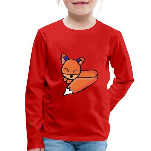 Edo le renard - T-shirt manches longues Premium Enfant