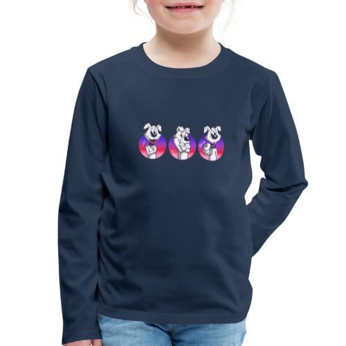 "Comic Hund in Gebärdensprache ""I love you"" - Kinder Premium Langarmshirt"