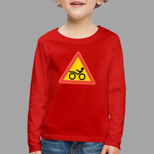 Traffic sign Recumbent - Lasten premium pitkähihainen t-paita