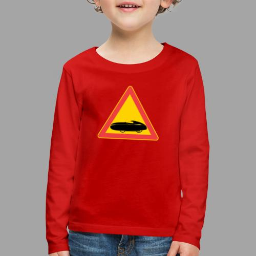 Traffic sign velomobile - Lasten premium pitkähihainen t-paita