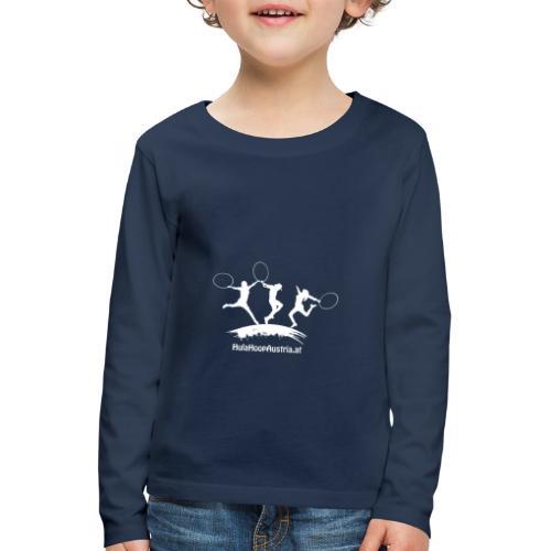 Hula Hoop Jumping Shadow White - Kinder Premium Langarmshirt