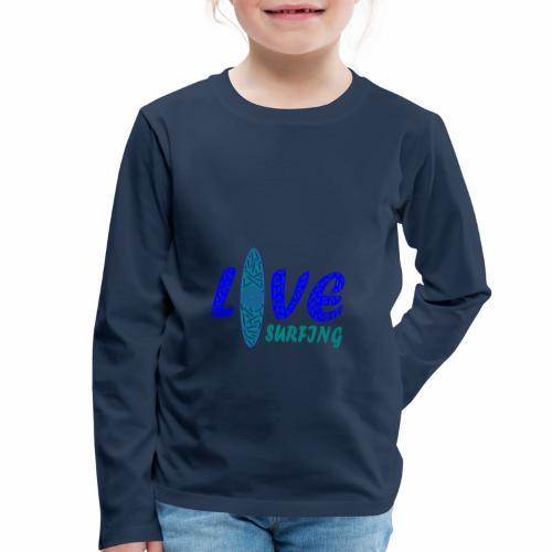 Love Surfing - Kinder Premium Langarmshirt