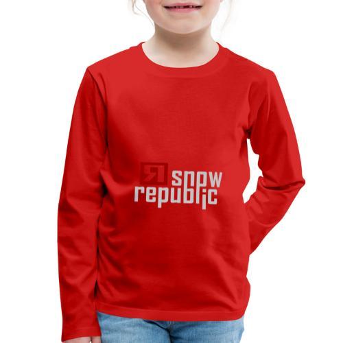 SNOWREPUBLIC 2020 - Kinderen Premium shirt met lange mouwen