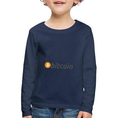 bitcoin MOON - Kinder Premium Langarmshirt