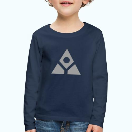 Sacred geometry gray pyramid circle in balance - Kids' Premium Longsleeve Shirt