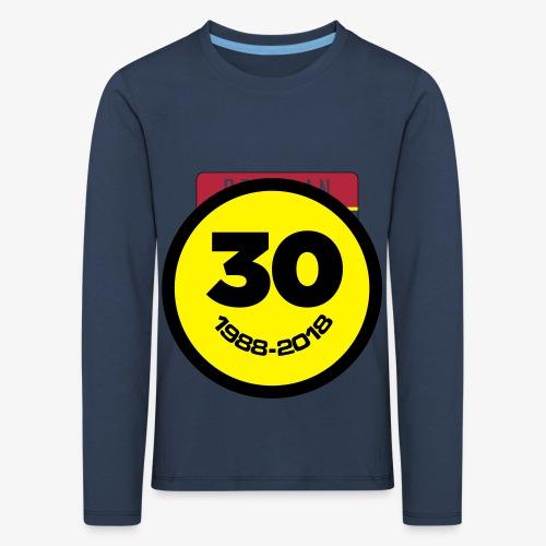 30 Jaar Belgian New Beat Smiley - Kinderen Premium shirt met lange mouwen
