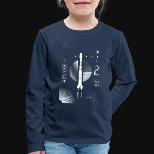 ARIANE 2 - White Patern - Kids' Premium Longsleeve Shirt