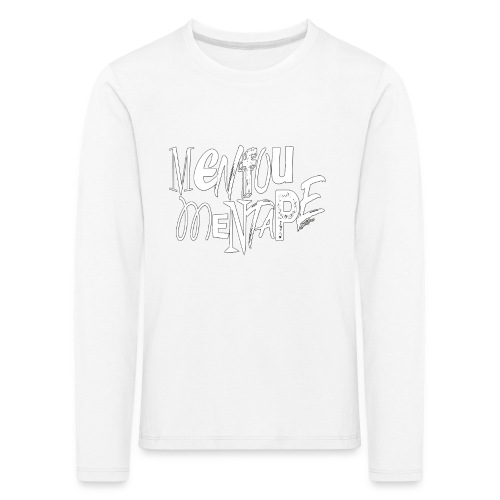 MENFOUMENTAPE blanc et noir by Alice Kara - T-shirt manches longues Premium Enfant