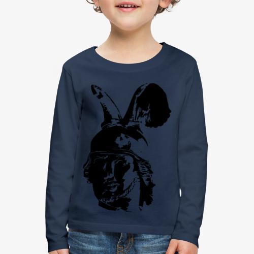 Kopf des Hermannsdenkmals - einfarbig, schlicht - Kinder Premium Langarmshirt