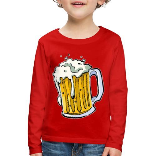 Boccale Birra - Maglietta Premium a manica lunga per bambini