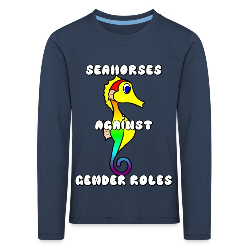 Seahorses against gender roles - Kids' Premium Longsleeve Shirt