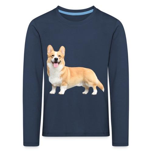 Topi the Corgi - Sideview - Kids' Premium Longsleeve Shirt