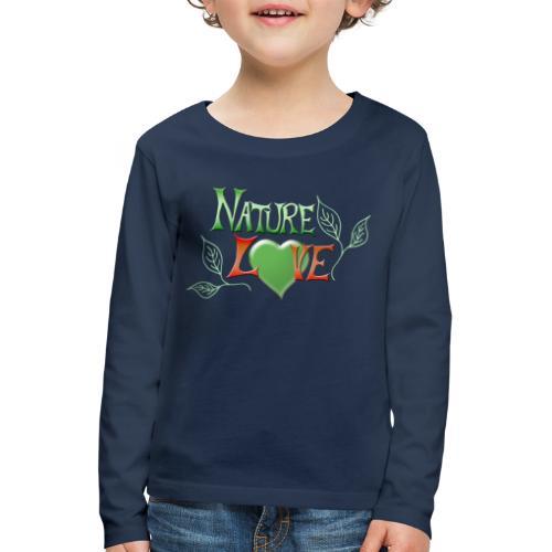 Nature Love - Kinder Premium Langarmshirt