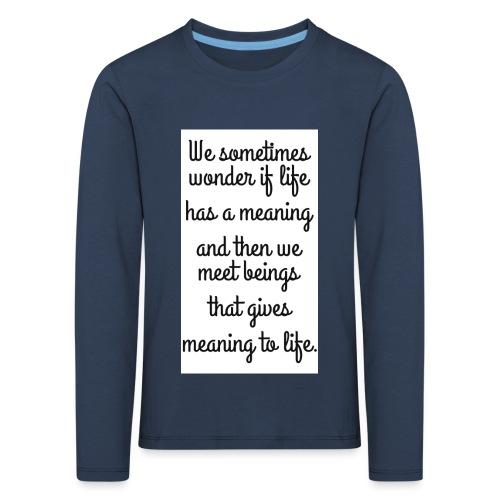 Phrase d'amour en anglais - T-shirt manches longues Premium Enfant