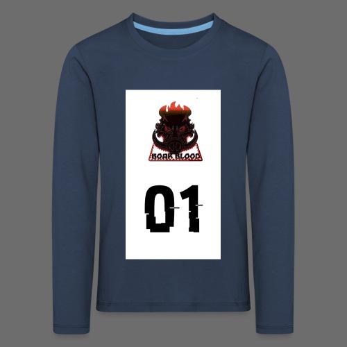 Boar blood 01 - Koszulka dziecięca Premium z długim rękawem