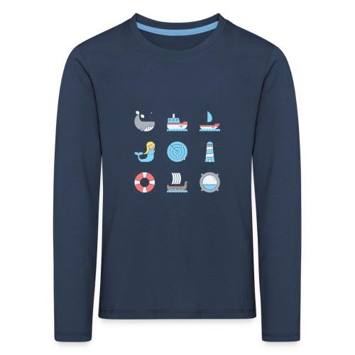 marine - T-shirt manches longues Premium Enfant