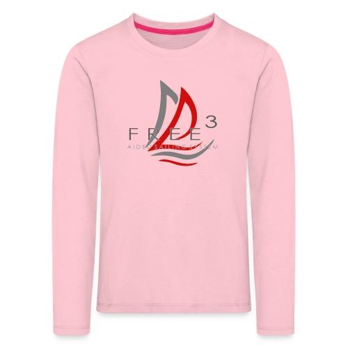 Free3 Aided Sailing System - Maglietta Premium a manica lunga per bambini