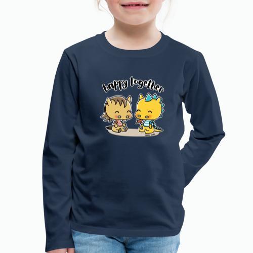 Happy Together - Pferd und Drache - Kinder Premium Langarmshirt
